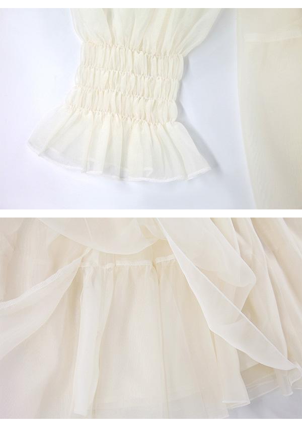 [予約]コルセットONレイヤード風バレリーナドレス-全2色-