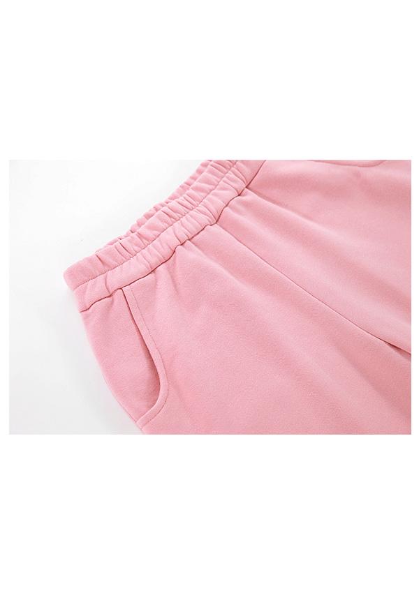 [残り7点]《新作》Boom Clap裾リボンスウェットロングパンツ-全2色-