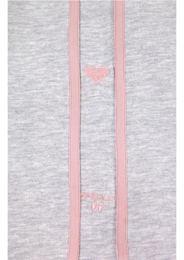 [予約]裾レースアップワイドスウェットパンツ-全2色-