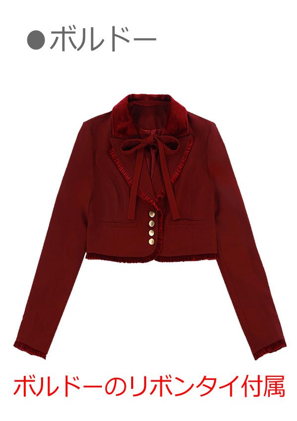 [残り4点]クラシカルショート丈テーラードジャケット-全3色-
