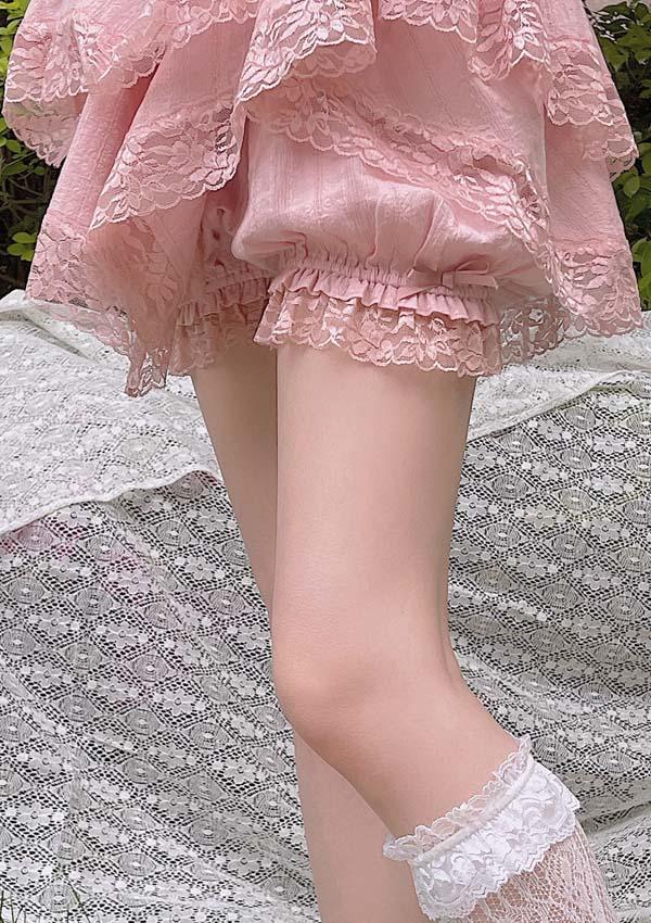 [予約]裾レース定番かぼちゃパンツ-全2色-