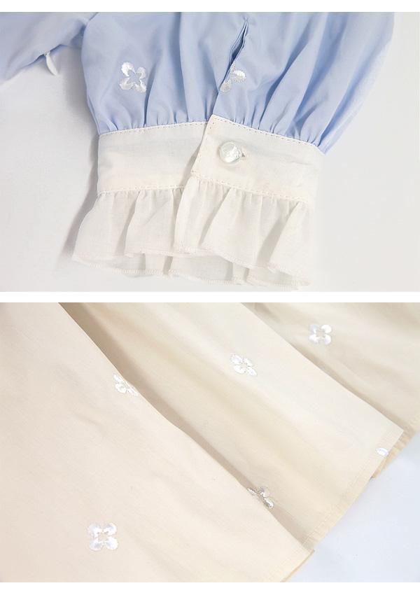 [予約]パフスリ半袖フレアドーリードレス-全3色-