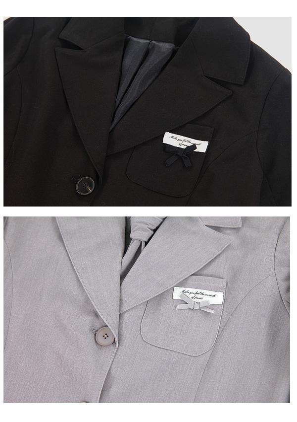 [残り8点]リボン袖テーラードジャケット-全3色-