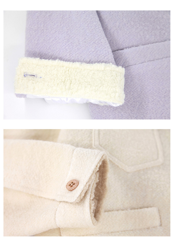 ★SALE/10%オフ★裏ボアオーバーサイズジャケット-全2色-