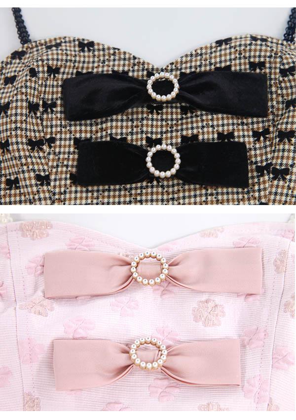 [予約]トリプルRibbonビスチェ×タイトスカートSET-全2色-