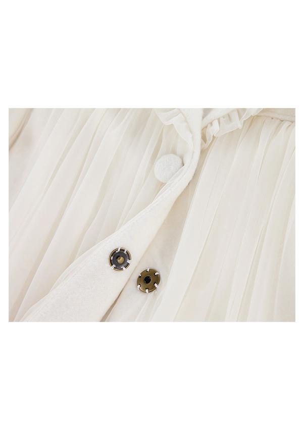 [残り1点]Ribbon袖チュールコート-全2色-