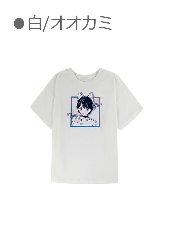 [残り5点]萌えキャライラストTシャツ-全5種-