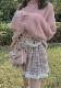 [残り7点]千鳥柄サイドポケットプリーツスカート-全2色-