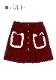 ★SALE/30%オフ★[残り僅か]猫型ポケットプリーツ切り替えスカート-全2色-