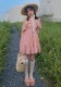 ★SALE/10%オフ★[残り1点]ひまわり柄バックリボンワンピース-全2色-