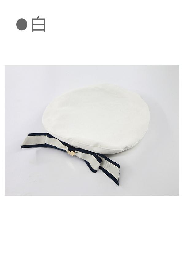 Bobon21リボン付きベレー帽-全3色-