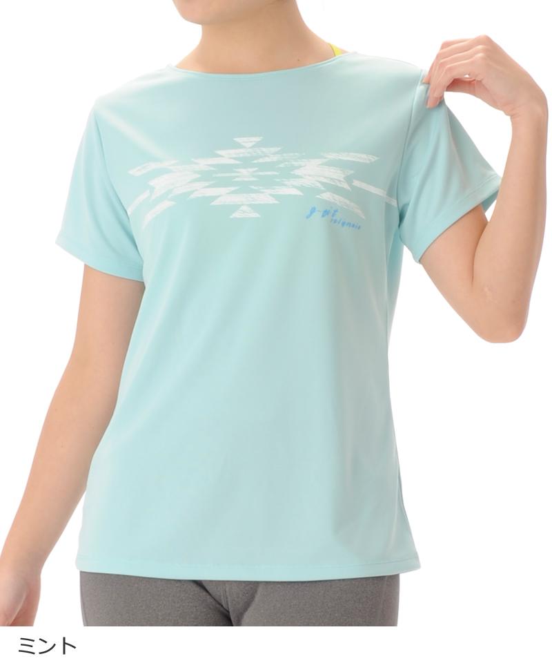【40%OFF】デザインTシャツ フィットネスウェア OM-C983TS(1902 G-FIT) ジーフィット