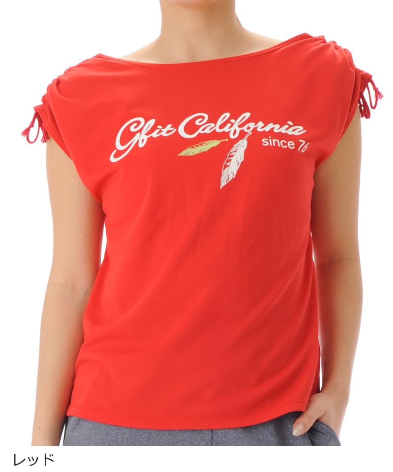 【40%OFF】デザインTシャツ フィットネスウェア OM-C997TS(1904 G-FIT) ジーフィット