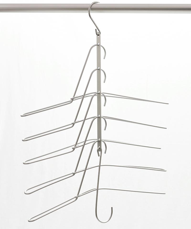畳まずしまえる多連ハンガー 2個セット DKT-0017 (TWINS)