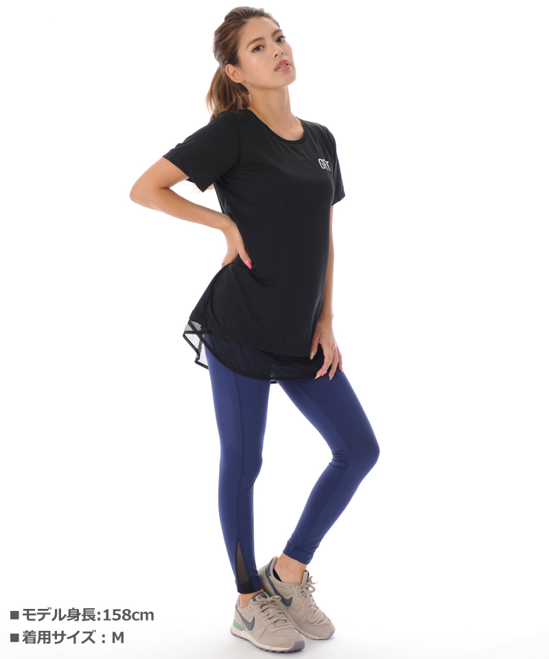 【返品交換不可】【50%OFF】Tシャツ フィットネスウェア OS-C003TS(1909 G-FIT VISTA) ジーフィット