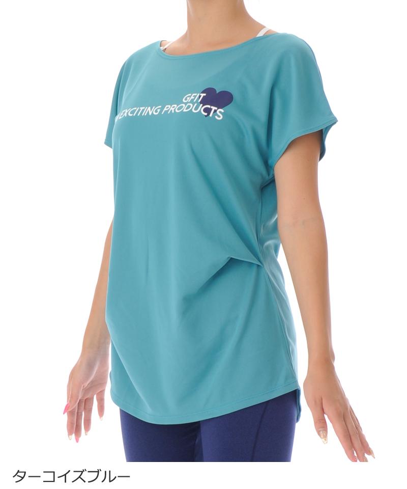 【40%OFF】フレンチスリーブTシャツ フィットネスウェア OS-C012TS(1910 G-FIT VISTA) ジーフィット