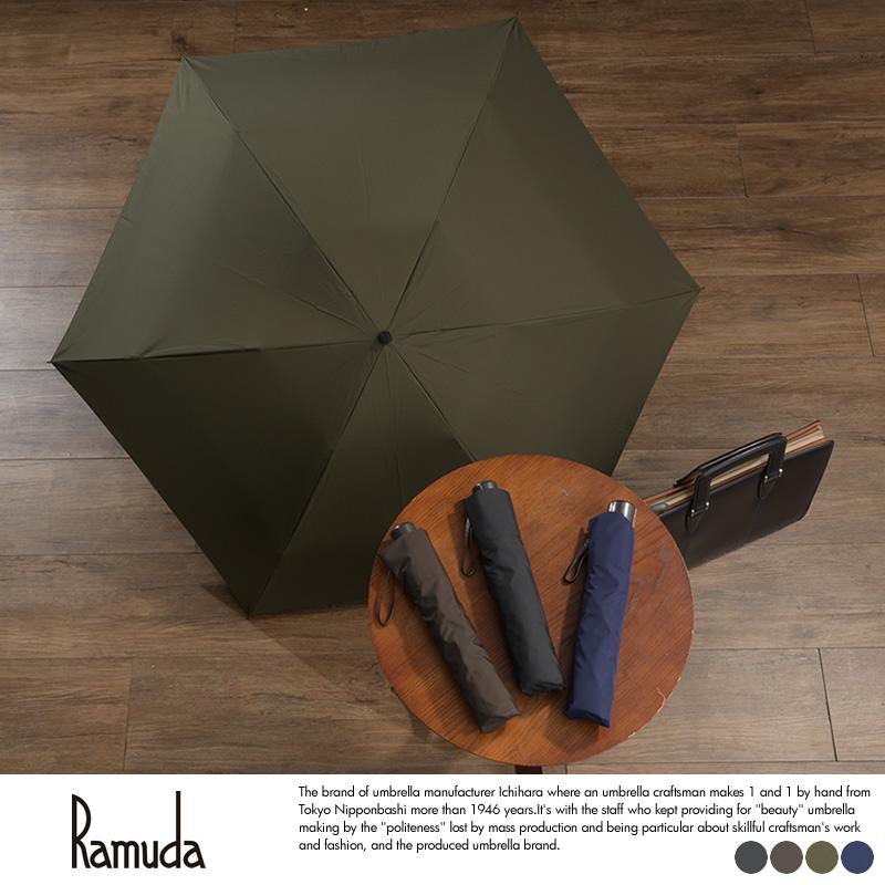Ramuda メンズ 折りたたみ傘 強力撥水 60cm レインドロップ レクタス 6本骨 軽量