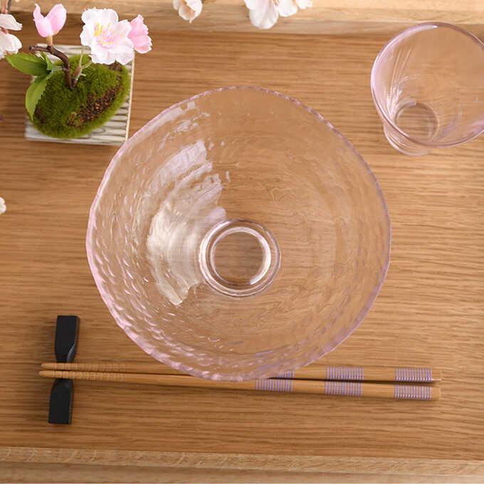 ADERIA 桜咲く 春の抹茶椀 清 耐熱ガラス