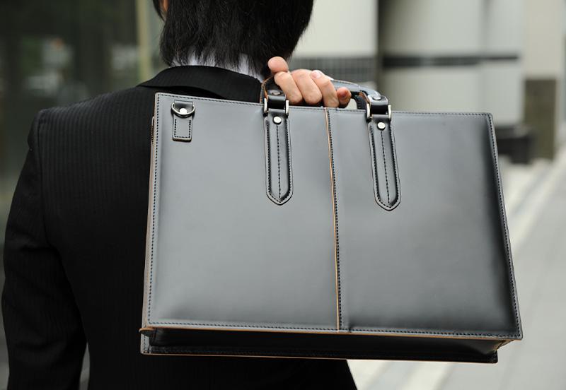 青木鞄 ビジネスバッグ ガラス牛革 枯淡 COMPLEX GARDENS ブラック
