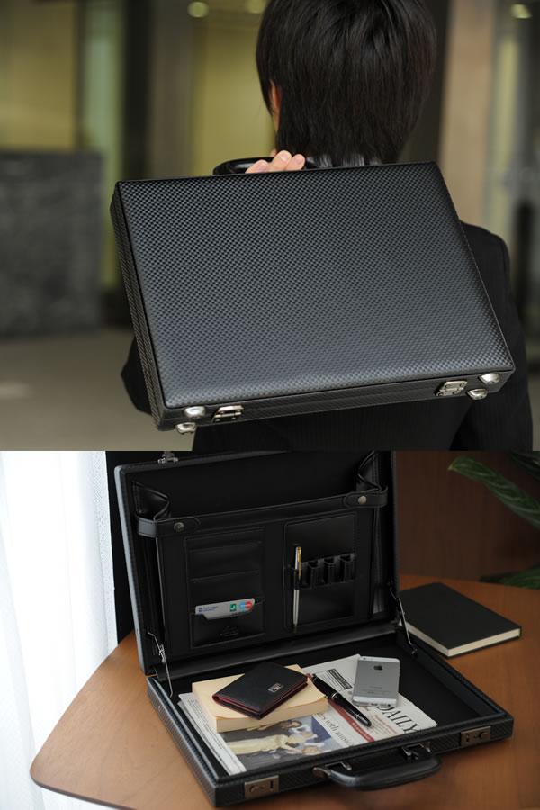 青木鞄 GAZA メンズ アタッシュケース A4 ブラック