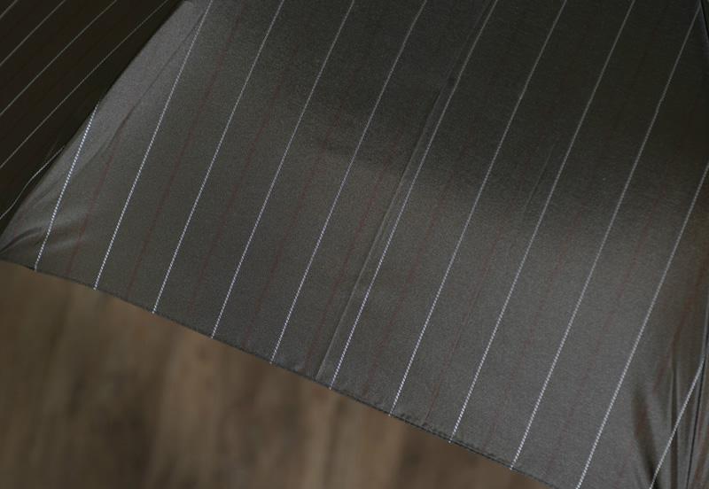 Ramuda メンズ 折りたたみ傘 自動開閉 58cm 甲州織 オルタネート ストライプ 耐風骨 8本骨 UV加工 ワンタッチ