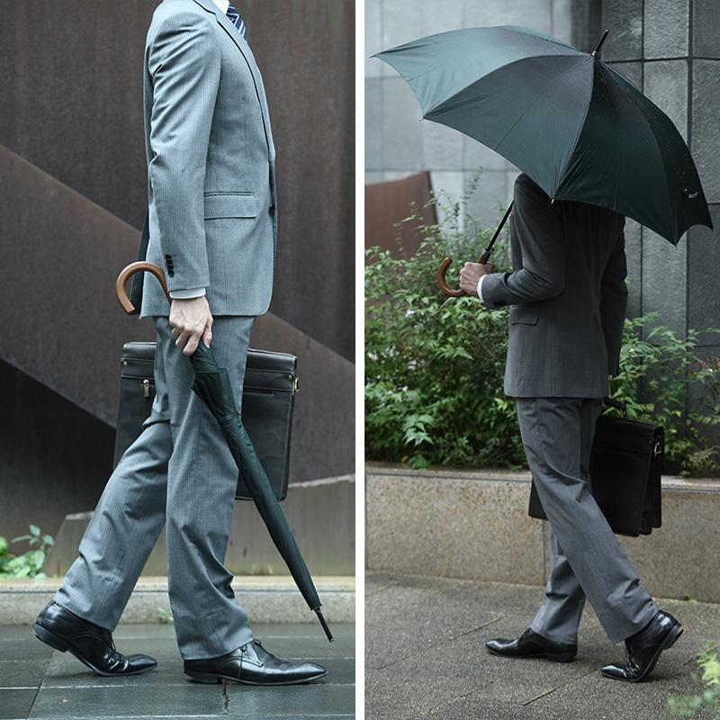 前原光榮商店 × 紳士の持ち物 紳士の長傘 8本骨 65cm シャンブレー無地