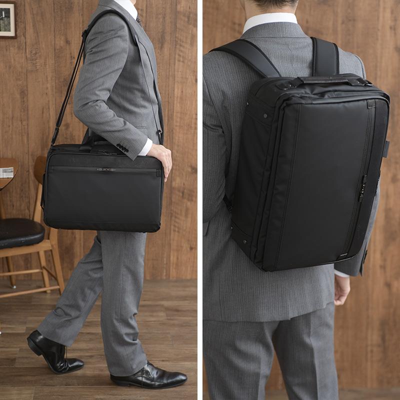 豊岡鞄 craftsmanship 防水3wayビジネスバッグ 2層式 ブラック