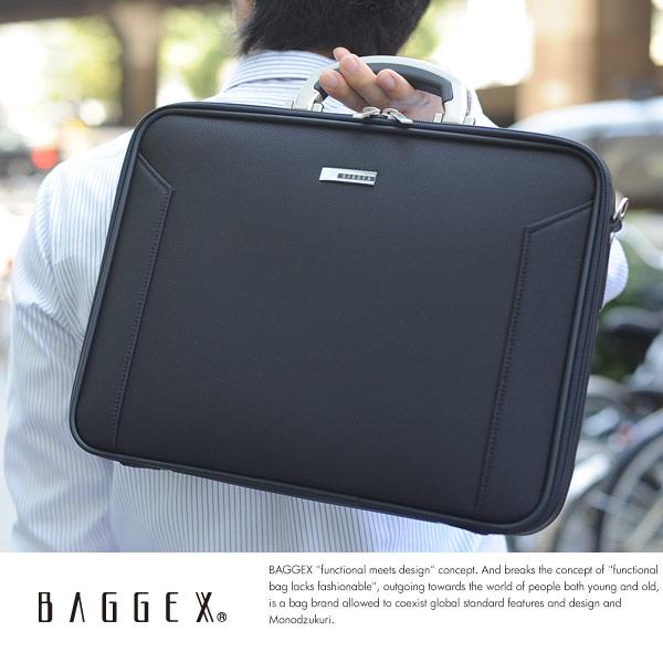 BAGGEX ソフトアタッシェケース A4対応 ORIGIN ブラック 24-0281