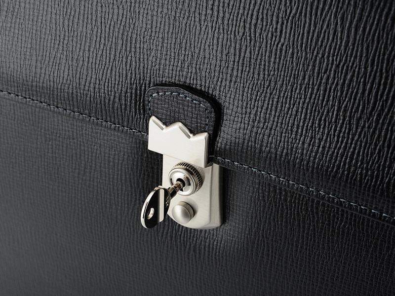 青木鞄 Lugard メンズ ブリーフケース 鍵付き2層 BALBOS ブラック