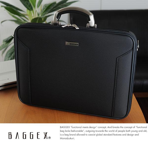 BAGGEX ソフトアタッシェケース B4対応 ORIGIN AT46 ブラック