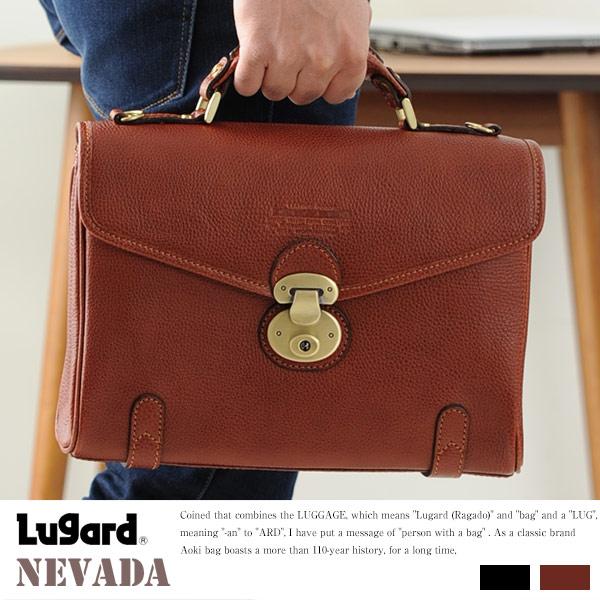 青木鞄 Lugard 牛ヌメ革ショルダーバッグ NEVADA