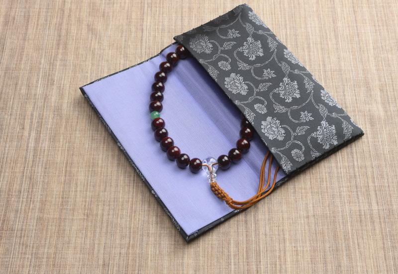正絹 西陣織 かがり仕立て 念珠袋