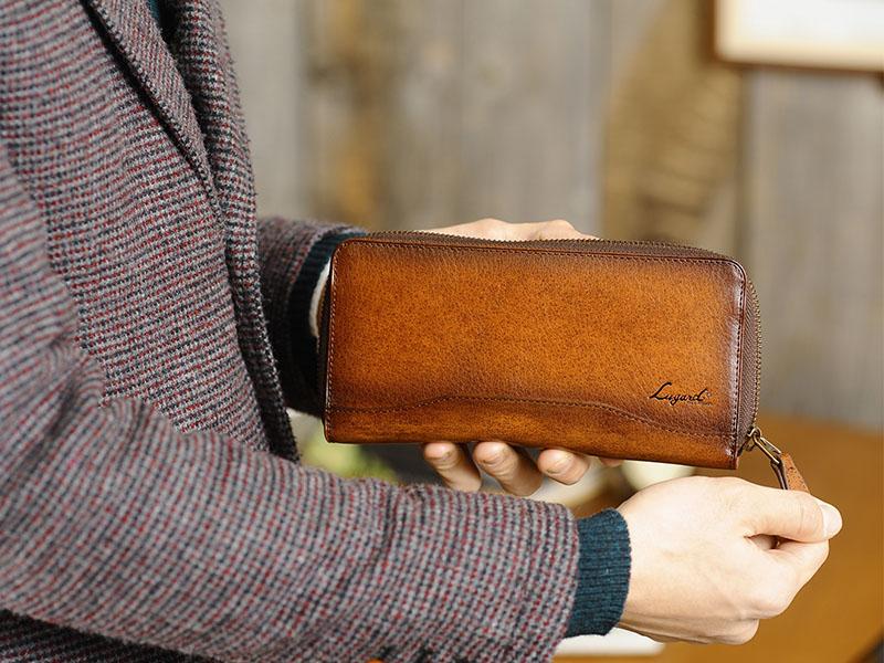 青木鞄 メンズ 長財布 ラウンドファスナー Lugard G-3
