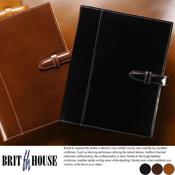 BRIT HOUSE システム手帳 A5サイズ King of Leather Cordovan