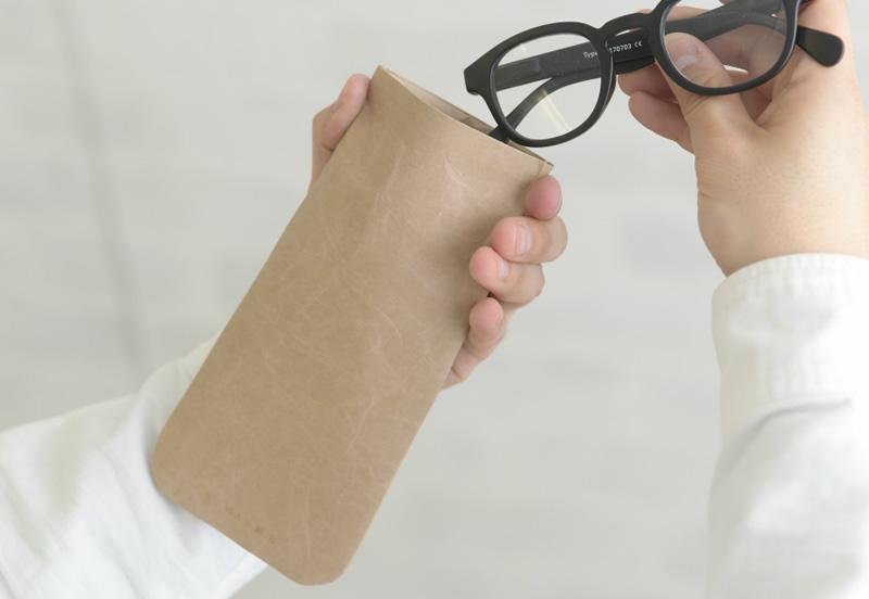 SIWA 紙和 耐水和紙製 バネ口式メガネケース