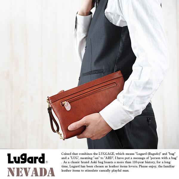 青木鞄 Lugard 牛ヌメ革セカンドバッグ NEVADA