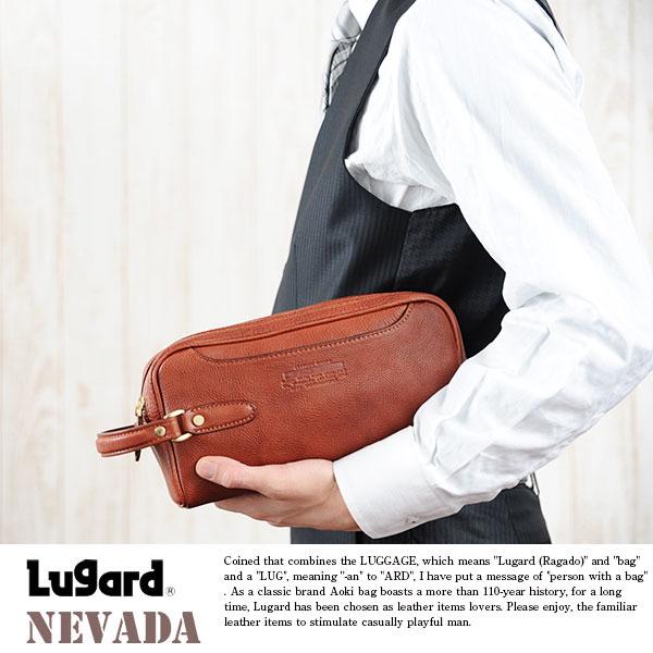 青木鞄 Lugard 牛ヌメ革ダブルセカンドバッグ NEVADA