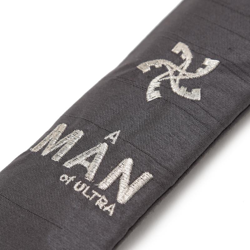 A MAN of ULTRA × 白竹堂 ウルトラメタルファン(セブンモノグラム) 紳士用メタル扇子 ブラック