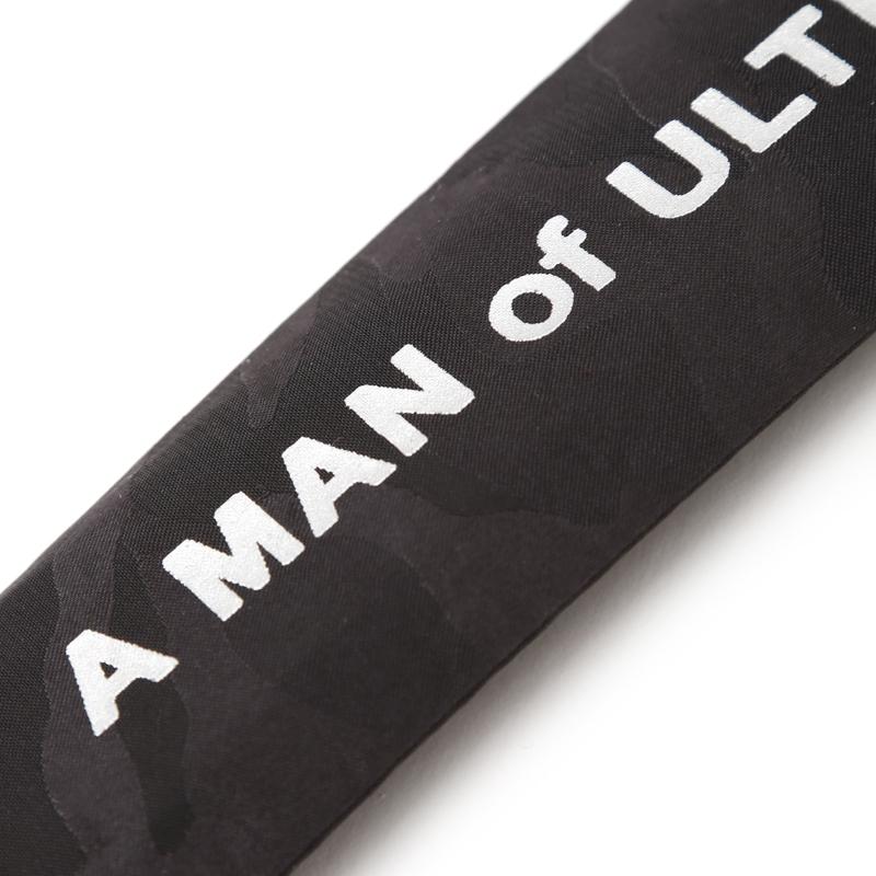 A MAN of ULTRA × 白竹堂 ウルトラレリーフファン(ダダ) 紳士用竹扇子 ブラック