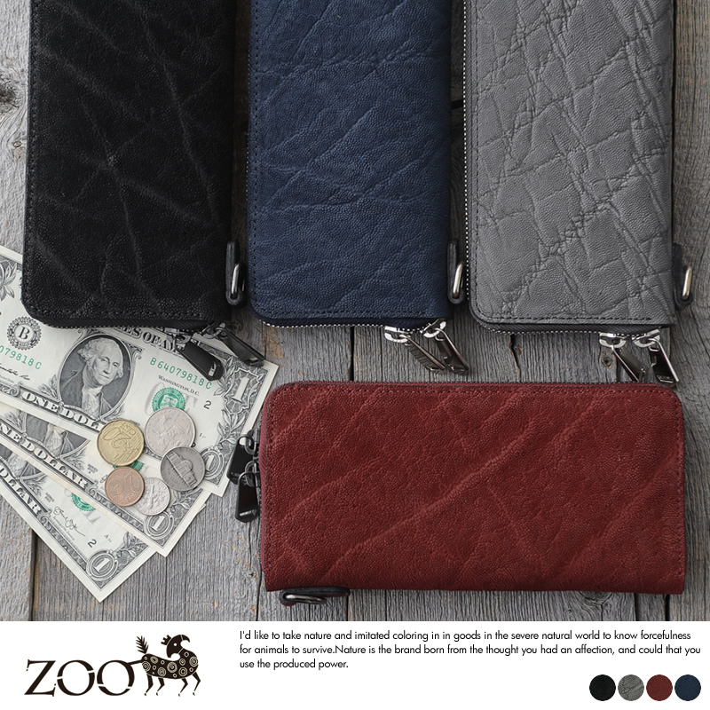 ZOO 象革 ラウンドダブルジッパー長財布 Ocelot Wallet2