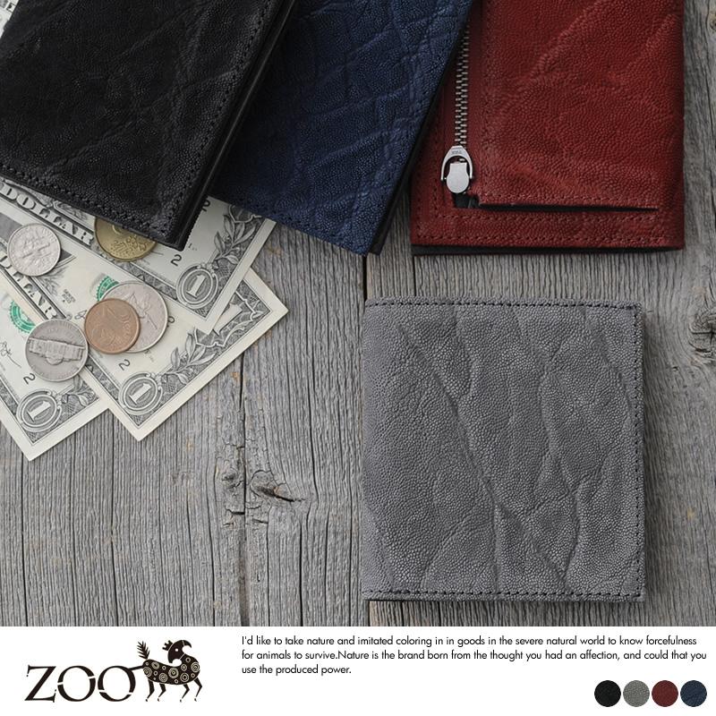 ZOO 象革 薄型二つ折り財布 小銭入れあり Lark Wallet2
