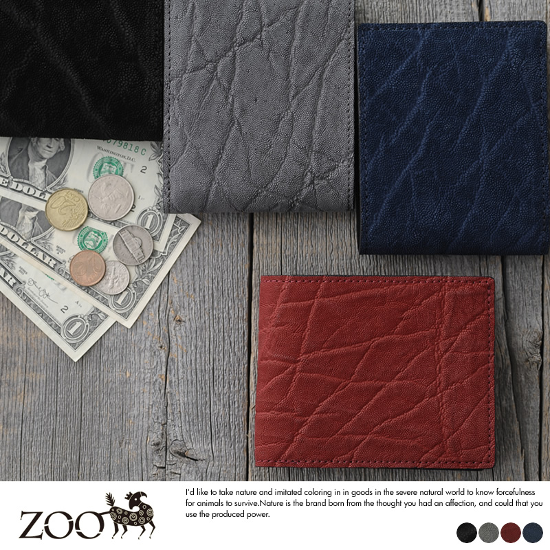 ZOO 象革 二つ折り財布 小銭入れあり Badger Billfold Wallet11