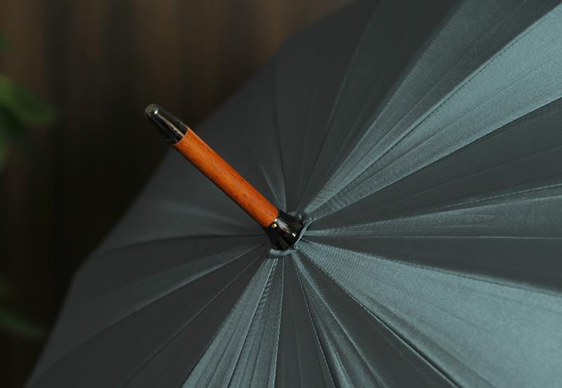 前原光榮商店 メンズ 雨傘 高級 16本骨傘 60cm 籐持ち手 TRAD-16