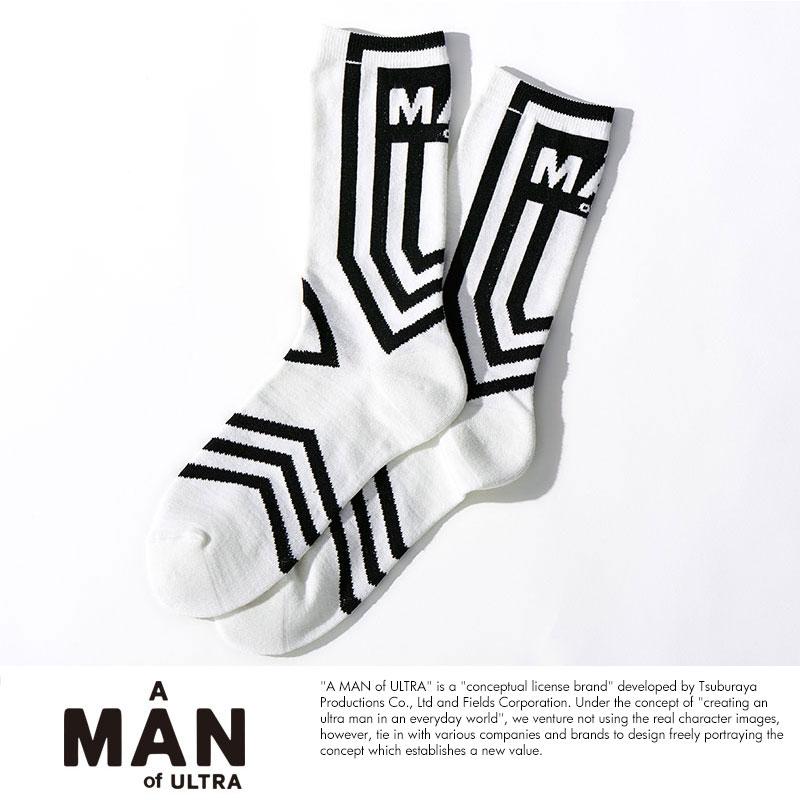 A MAN of ULTRA × EGO TRIPPING ソックス(ダダ) ホワイト