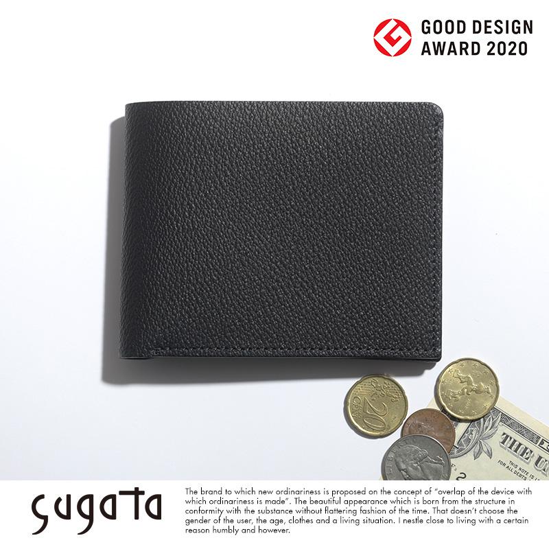sugata 二つ折り財布 収める納まる ハーフウォレット