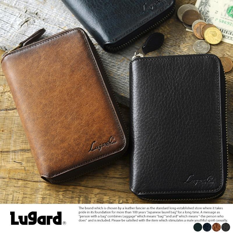 青木鞄 二つ折り 財布 ラウンドファスナー 本革 Lugard G-3