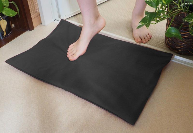 Techno-Gateway バスクッション 専用カバー ふわふわ珪藻土 足拭きバスクッション トリリア