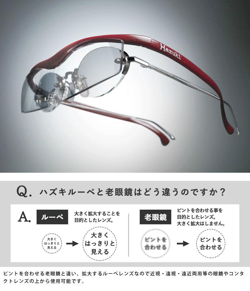Hazuki 正規 ハズキルーペ クール クリアレンズ