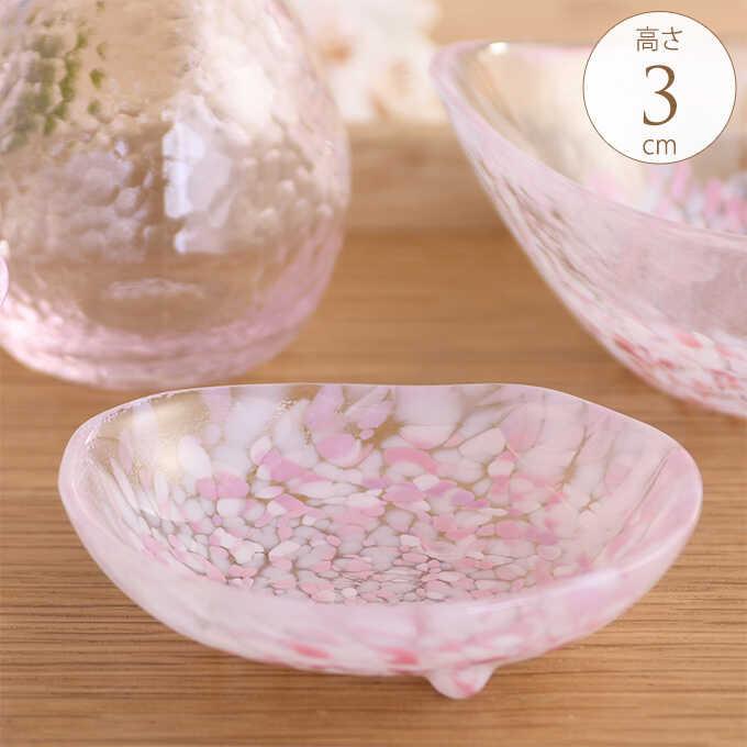 桜咲く 春の三つ足豆皿