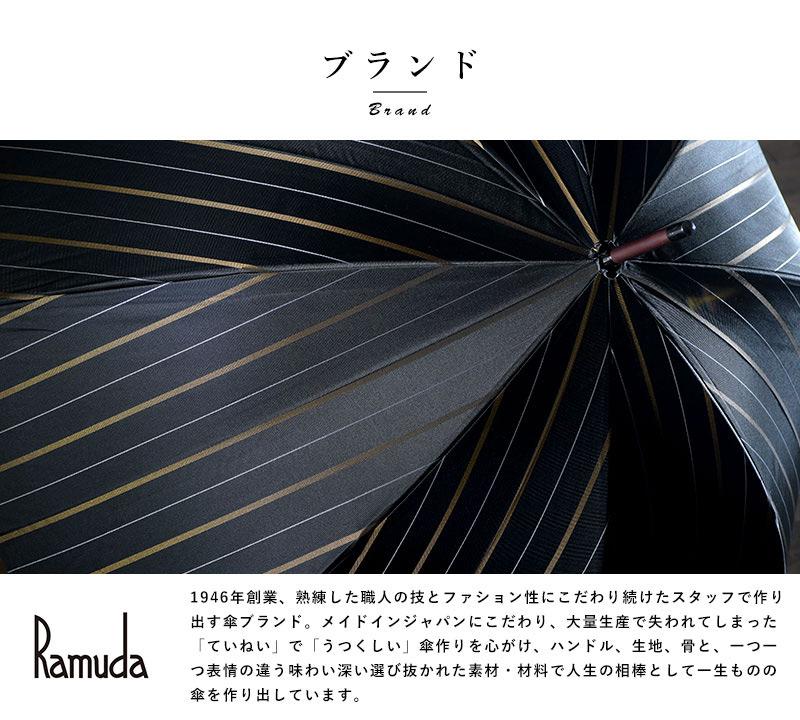 Ramuda Y型サスペンダー ストライプ柄35mm幅 クリップ ボタン両用